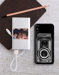 gifts: Personalised Camera iPhone Cover and Powerbank!