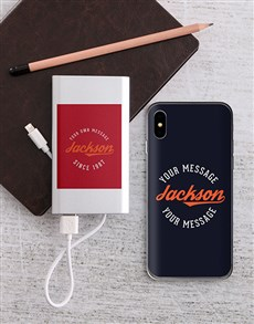gifts: Personalised Retro iPhone Cover and Powerbank!