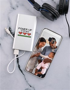 gifts: Personalised Powerup Samsung Cover and Powerbank!