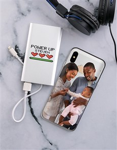 gifts: Personalised Powerup iPhone Cover and Powerbank!