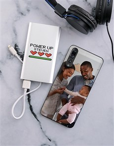 gifts: Personalised Powerup Huawei Cover and Powerbank!