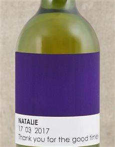 gifts: Personalised Purple Pantone Wine!