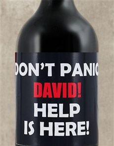 gifts: Personalised Dont Panic Wine!