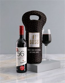 gifts: Personalised Boss Wine Carrier!