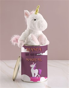 gifts: Personalised Unicorn Teddy Chocolate Tin!
