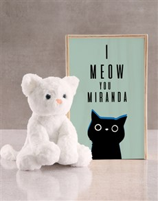 gifts: Personalised Cat Teddy And Crate!
