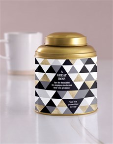gifts: Personalised Great Boss Tea Tin!