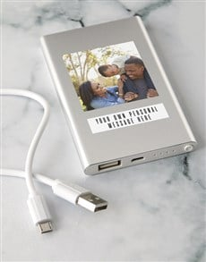 gifts: Personalised Photo Power Bank!