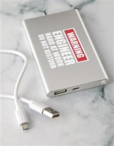 gifts: Personalised Warning Power Bank!