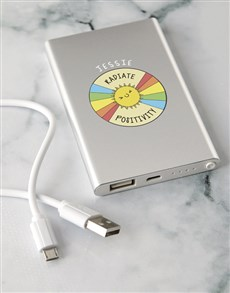 gifts: Personalised Positivity Power Bank!
