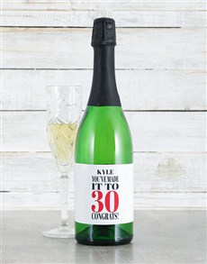 gifts: Personalised Congrats Sparkling Wine!