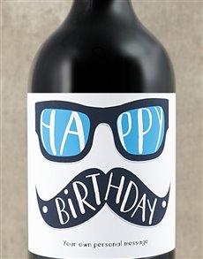 gifts: Personalised Birthday Glasses Wine!
