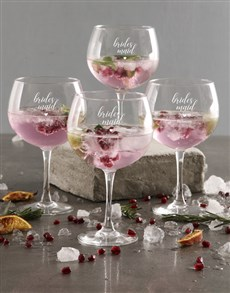 gifts: Personalised Bridesmaid Gin Glass Set!