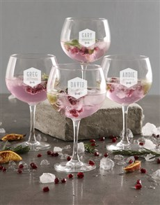 gifts: Personalised Groomsman Gin Glass Set!