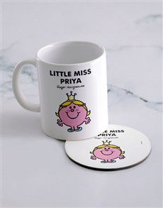 gifts: Personalised Little Princess Mug And Coaster!