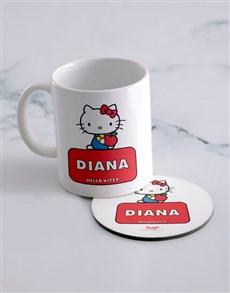 gifts: Personalised Hello Kitty Mug And Coaster!