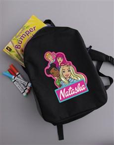 gifts: Personalised Barbie Kids Backpack!