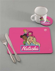 gifts: Personalised Barbie Dining Set!
