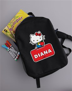 gifts: Personalised Hello Kitty Backpack!
