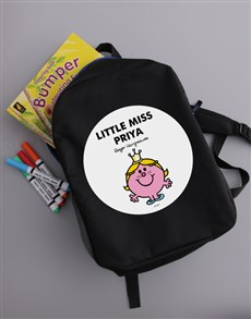 gifts: Personalised Little Miss Princess Backpack!