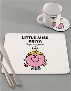 gifts: Personalised Miss Princess Dinner Set!