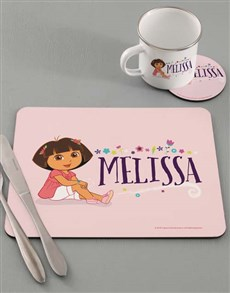 gifts: Personalised Dora Dinner Set!