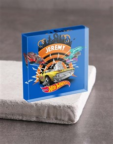 gifts: Personalised Hot Wheels Acrylic Block!