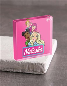 gifts: Personalised Barbie and Friends Acrylic Block!