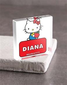 gifts: Personalised Hello Kitty Acrylic Block!