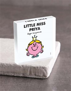 gifts: Personalised Miss Princess Acrylic Block!