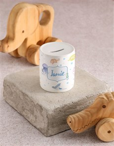 gifts: Personalised Under The Sea Kids Money Box!