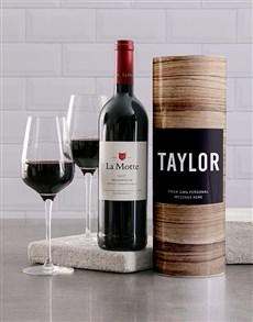 gifts: Personalised Wood Grain Wine Tube!