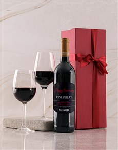 gifts: Personalised Red Backsberg Anniversary Giftbox!