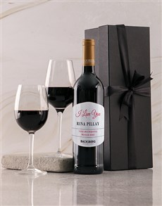 gifts: Personalised Black Backsberg Love Giftbox!