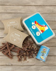 gifts: Personalised Blue Skate Snack Tin!