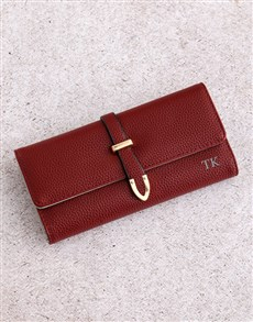 gifts: Personalised Large Burgundy Purse!