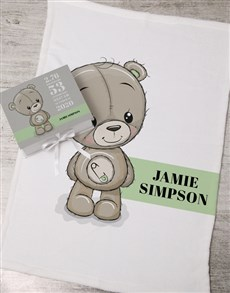 gifts: Personalised Bear Keepsake Box With Blanket!