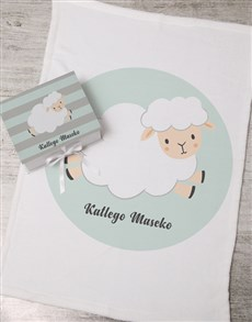 gifts: Personalised Sheep Keepsake Box With Blanket!