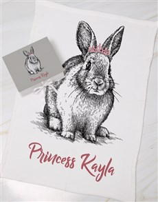 gifts: Personalised Rabbit Keepsake Box With Blanket!