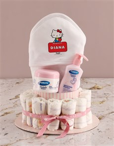 gifts: Personalised Kitty Nappy Gift Set!