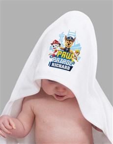 gifts: Personalised Paw Patrol Hooded Towel!