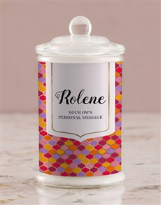 gifts: Personalised Vibrant Ogee Candle Jar!