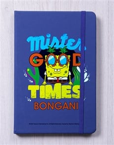 gifts: Personalised Good Times Blue Notebook!