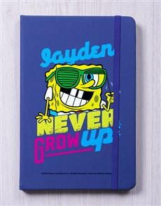 gifts: Personalised Never Grow Blue Notebook!