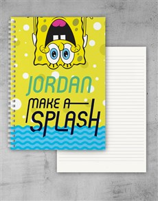 gifts: Personalised Make A Splash Notebook!