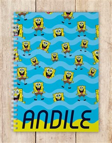 gifts: Personalised SpongeBob Notebook!