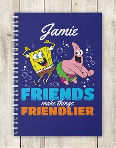 gifts: Personalised Friends Make Notebook!
