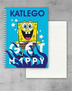 gifts: Personalised Get Happy Notebook!