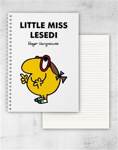 gifts: Personalised Little Miss Busy Notebook!