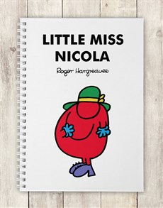 gifts: Personalised Little Miss Scatterbrain Notebook!